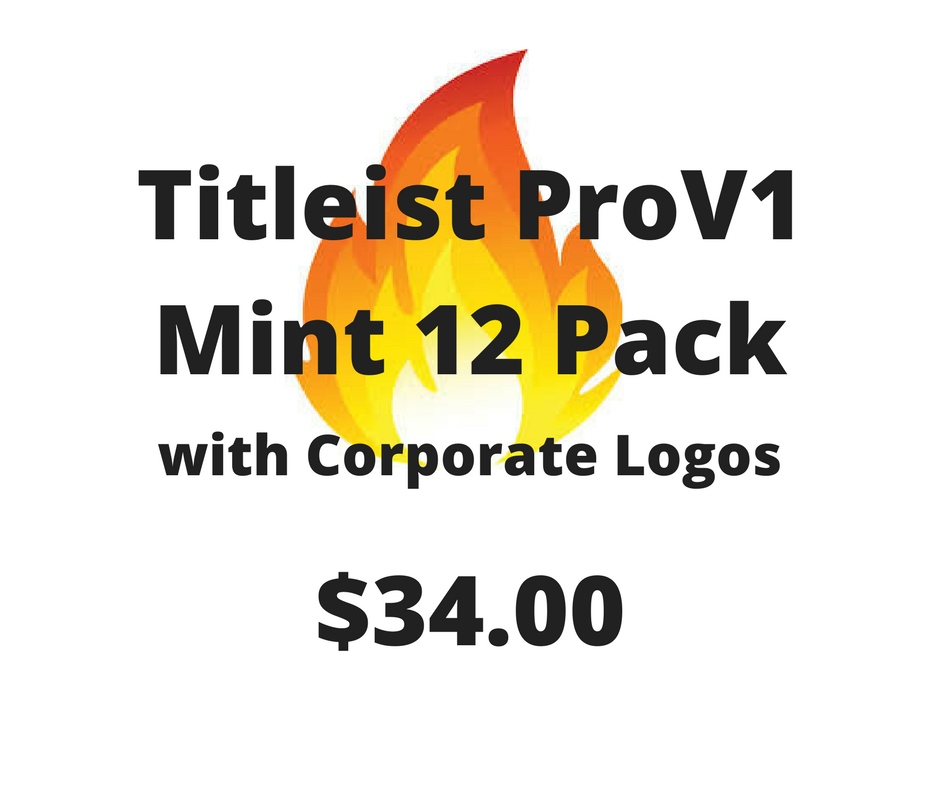Titleist ProV1 Mint - 12 Pack with Corporate Logos