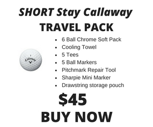 Short Stay Callaway Chrome Soft Travel Pack