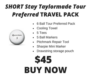 Short Stay Taylormade Tour Preferred Pack