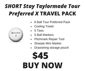 Short Stay Taylormade Tour Preferred X Pack
