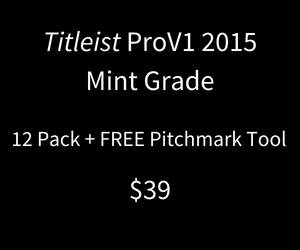 Titeist ProV1 Mint 2015 12 Pack - No Logos + Free Pitchmark Tool
